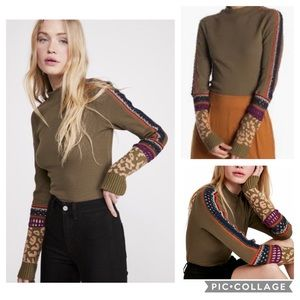 Free People NWT Switch It Up Thermal Top in Army